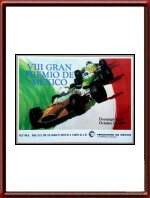 Originele 1969 Mexico Grand Prix Poster
