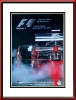 Originele 2001 Monaco Grand Prix Race Poster